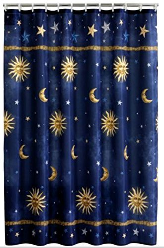 Amazon sun moon stars shower curtain by mainstays home kitchen sun moon stars shower curtain by mainstays gumiabroncs Gallery