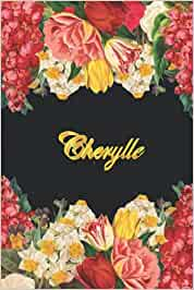Cherylle: Lined Notebook / Journal with Personalized Name, & Monogram initial C on the Back Cover, Floral Cover, Gift for Girls & Women