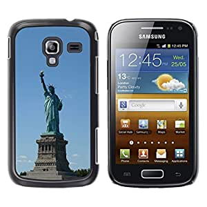Paccase / SLIM PC / Aliminium Casa Carcasa Funda Case Cover - Architecture Statue Of Liberty - Samsung Galaxy Ace 2 I8160 Ace II X S7560M