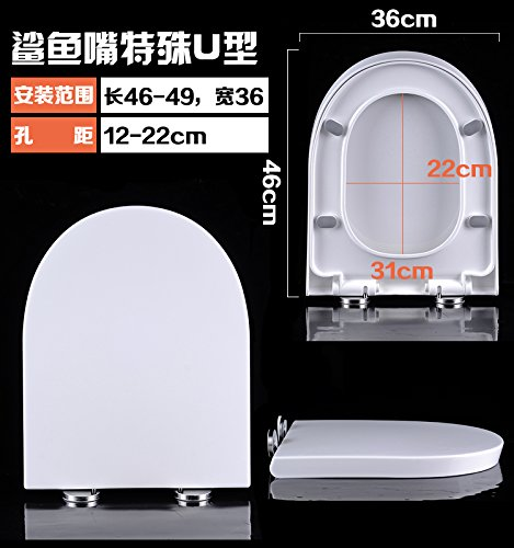 Insert the 22 Shark Mouth Cap Topseh Toilet Cover General Thickening Seat, Toilet Cover And Toilet Cover U Type V Type O Type Old Style,Insert The 22 Shark Mouth Capsimple Modern Comfortable Bacteria Removal Home Toilet Common
