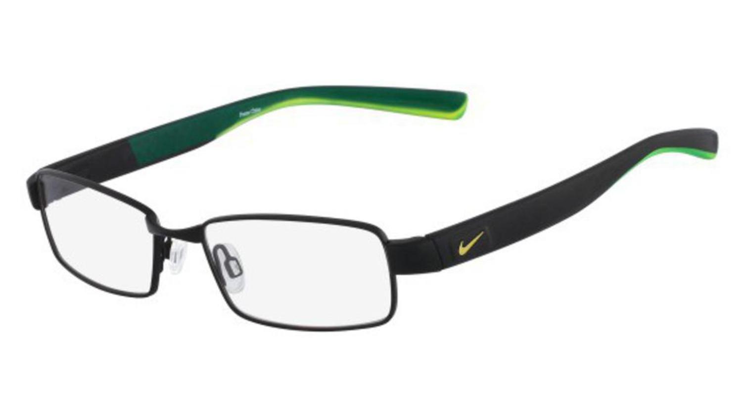 Nike eyeglasses 8167 012 Metal Matt Black - Green