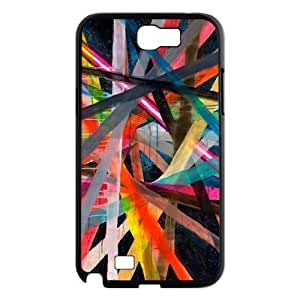 Colorful Stripes Design New Fashion DIY Phone For Case Samsung Galaxy Note 2 N7100 Cover ,customized ygtg602171