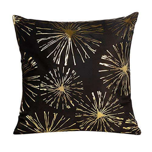 45cm X 45cm/18 X 18 Polyester Gold Foil Printing Pillow Case,Sofa Waist Throw Cushion Cover Home Decor - Removable Washable