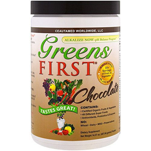 (Greens First - Chocolate - Superfoods, Extracts & Concentrates, Nutrient Rich Antioxidant Power of 15+ Servings of Fruits - 14.37 Ounce 30)