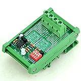 Electronics-Salon DIN Rail Mount LVD Low Voltage Disconnect Module, 12V 30A, Based on MCU - MOSFET