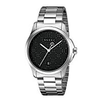 Gucci Swiss Quartz Stainless Steel Dress Silver-Toned Men's Watch(Model: YA126460)
