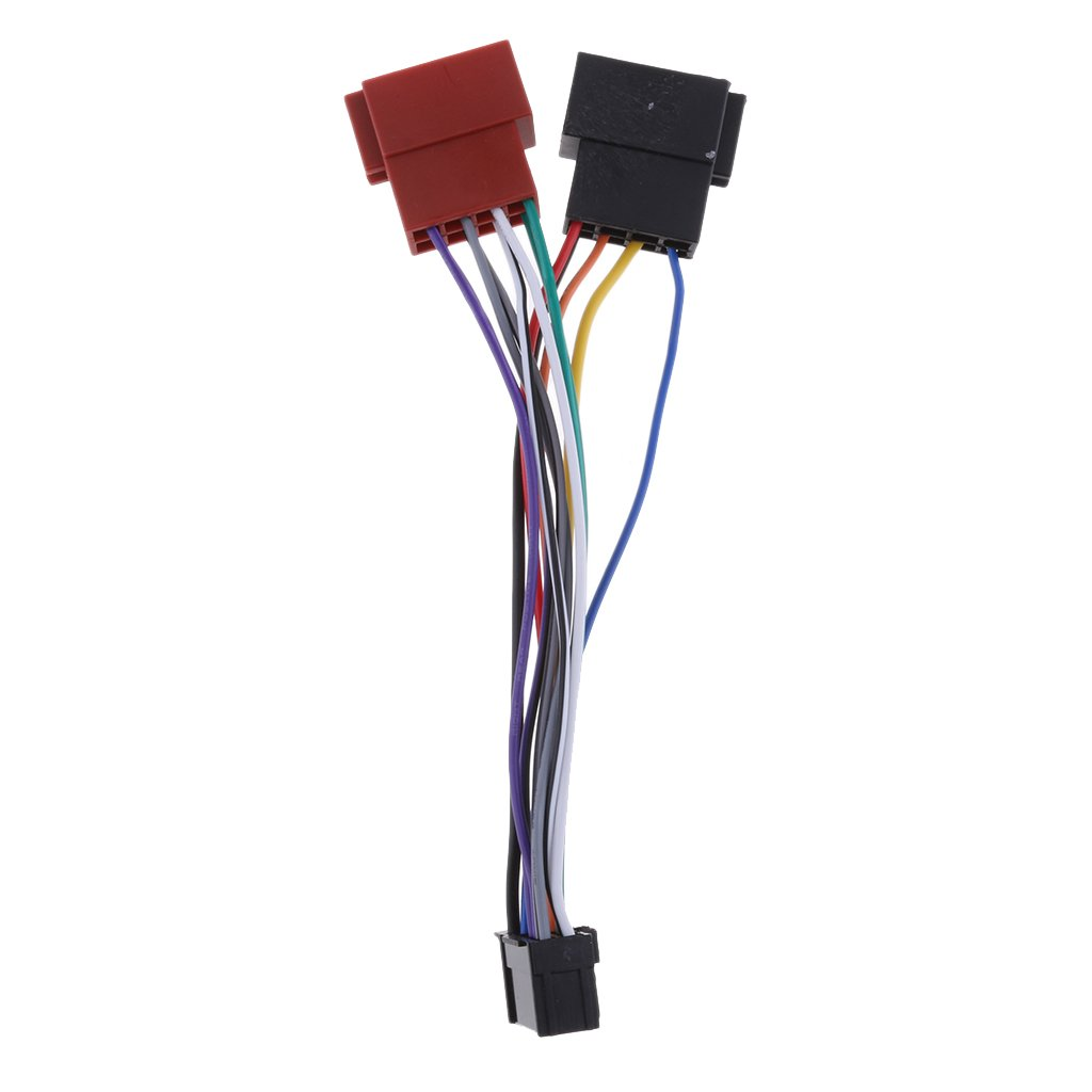 Stereo Radio Wire Adapter Plug Wiring Connector Cable Female Car Wiring Car ISO Harness Head Cable for Pioneer 16-Pin ISO