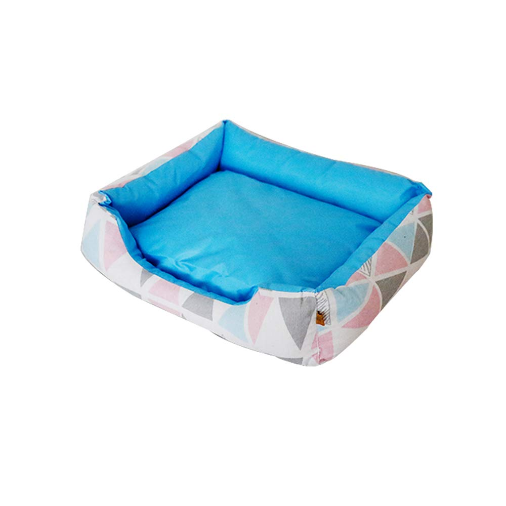 bluee LargeYQQ Cat Nest Four Seasons Winter Keep Warm Cat Nest Washable Small Kennel (color   bluee, Size   L)