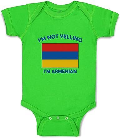 Cute Rascals Custom Boy /& Girl Baby Bodysuit Im Not Yelling I Am Armenian Armenia Cotton
