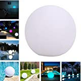 Geekercity Waterproof Floating LED Pool Glow Ball Light for Indoor Outdoor, RGB Decorative Lamp Mood Lighting with Remote Control, 16 Colors Changing for Garden Bedroom Night Light Party (5.9 inch)