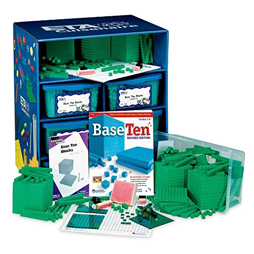 ETA hand2mind Green ManipuLite Foam Base Ten Blocks Math Lab by ETA hand2mind