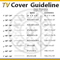 Outdoor TV Cover with Clear Front, Weatherproof Universal Protector for LCD, LED, Plasma Television Sets – Compatible…