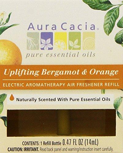 Orange Bergamot Air Freshener (Aura Cacia Uplifting Bergamot and Orange Electric Aromatherapy Air Freshener Refill,  0.47 Ounce -- 3 per)