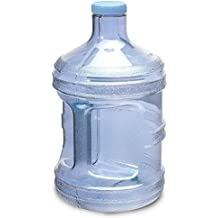 1 Gallon OR 5 Liter BPA FREE Reusable Plastic Drinking Water Big Mouth Bottle Jug Container with Holder Drinking Canteen - Choose Size / Color Combo