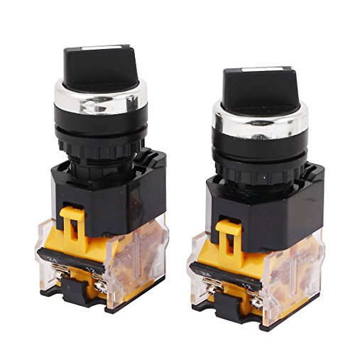 Uxcell a16031500ux1771 LA38-203 AC 400V 10A 2 Position ON/Off Rotary Selector Switch Orange 2 Pcs (Pack of 2) ()