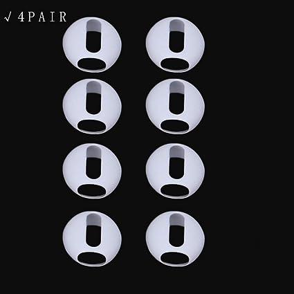 ecmqs 2 pares ultradelgado silicona Earbuds Consejos Cover almohadillas para Apple Airpods iPhone X 8 7