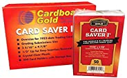 200 Cardboard Gold Card Saver 1 Semi-rigid Card Holders -PSA Submission Size