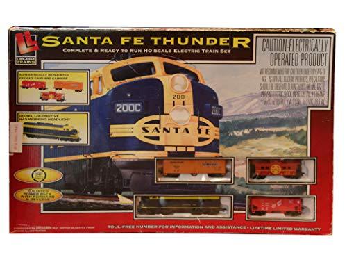 Life-Like Trains HO Scale Santa Fe Thunder Electric Train ()