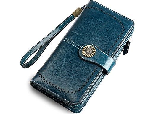 - Zecmos Womens Large Wallets Leather Clutch Wallet Card Holder Organizer Ladies Purse