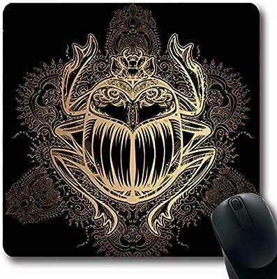 Luancrop Alfombrillas De Oro Egipcio del Tatuaje Escarabajo ...