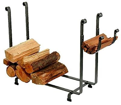 Enclume Handcrafted Indoor/Outdoor Large Rectangle Fireplace Log Rack Hammered Steel