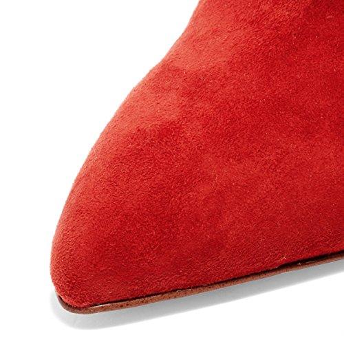 Fsj Kvinder Glide På Lukkede Tå Muldyr Faux Ruskind Sandaler Stiletto Høje Hæle Klassiske Sko Str 4-15 Os Rød eSrKecoMBz