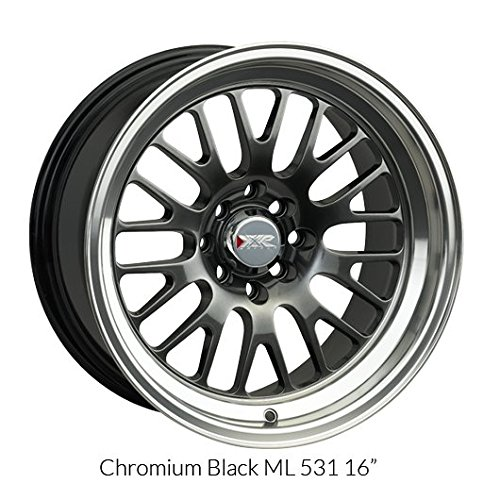 XXR 531 Chromium Black/ML Wheel with Painted (16 x 9. inches /4 x 100 mm, 0 mm Offset)