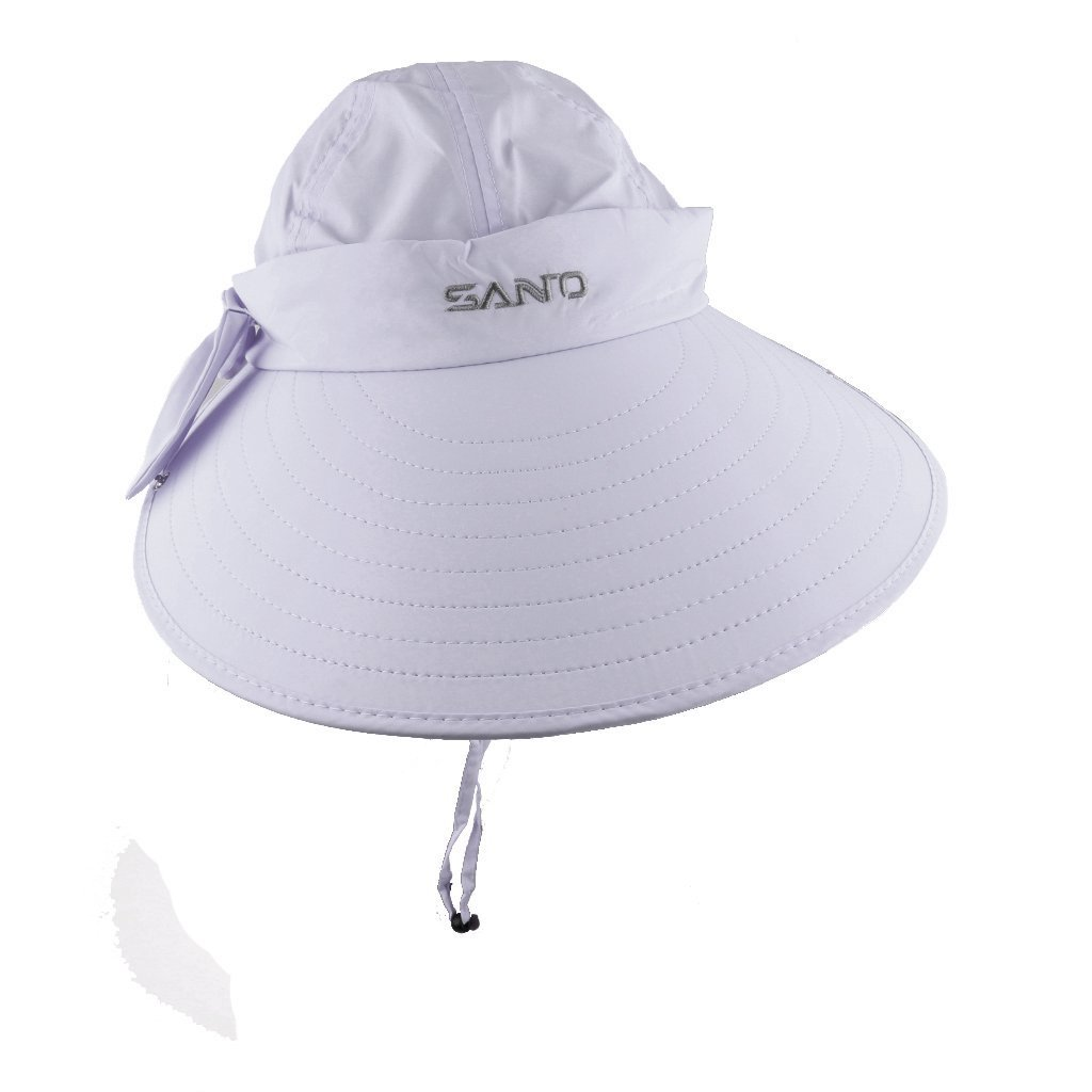 d84dcbf2907 Buy Imported Unisex Outdoor UV Sun Protection Hiking Fishing Wide Brim Cap  Hat Light grey Online at Low Prices in India - Amazon.in
