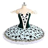 QSEFT Professional Ballet Nutcracker Tutus Black Green Velvet Fabric Ballerina Dance Classical Ballet Costumes Tutu Skirt,Adultsizexxl