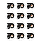 "Single Source Party Supplies - 2.5"" Philadelphia Flyers Cupcake Edible Icing Image Toppers #1 - Qty 12"