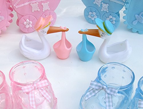 Baby Shower Centerpiece DIY Kit (Giant Baby Bottle Bank) For Twin   Pink U0026