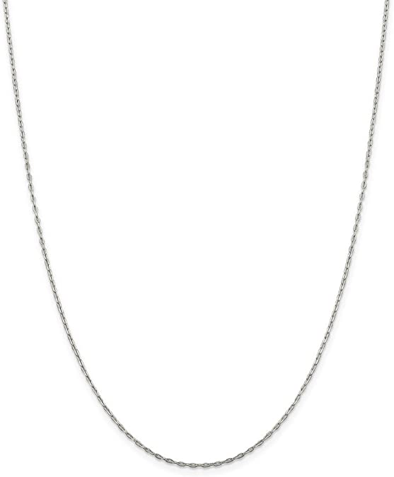 Finished Necklace for Pendant 1 pc 18 inches Cable Flat Oval Necklace Ready to Wear - SKU: 601043-18 925 Sterling Silver Chain