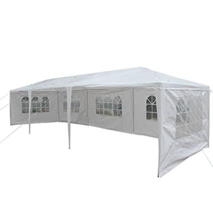 bec6f99c Amazon.com: mefeir 10'x30' Outdoor Canopy Tent Patio Party Wedding w/ 5  Removable Sidewalls White,Camping BBQ Gazebo Catering Patio Pavilion Events  ...