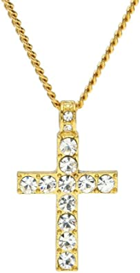 Hip Hop Chain 1 Series 5mm 18Inch Rhinestone Necklace Letter Pendant