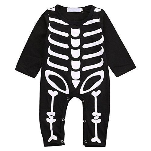 GRNSHTS Baby Boys Girls Skeleton Long Sleeve Costume Onesie Jumpsuit (70/0-6 Months, - Jumpsuit Child