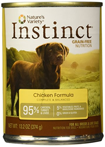 Nature's Variety Instinct, Grain-Free Canned Dog Food, Chicken, 13.2 Ounces (Single Can)