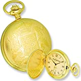 Swingtime Gold Plated Brass Date Pocket Watch & Chain