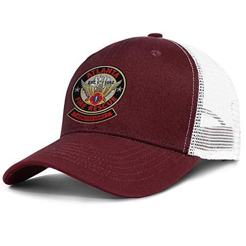 DXQIANG Atlanta Fire Rescue Department Unisex Classic Mesh Trucker Cap Sun Protection Adjustable Sun Caps