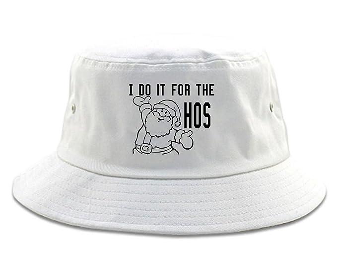 6cbf193db8f Amazon.com  FASHIONISGREAT Do It For The Hos Christmas Santa Bucket Hat  Black  Clothing