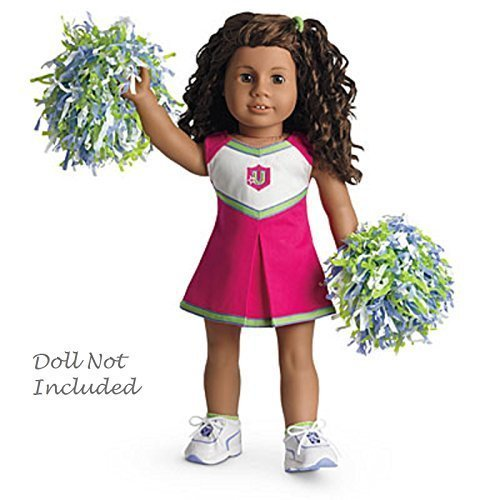 Cheerleaders Briefs - American Girl - Campus Cheer Gear Cheerleader Outfit + Charm for Doll - MY AG 2013