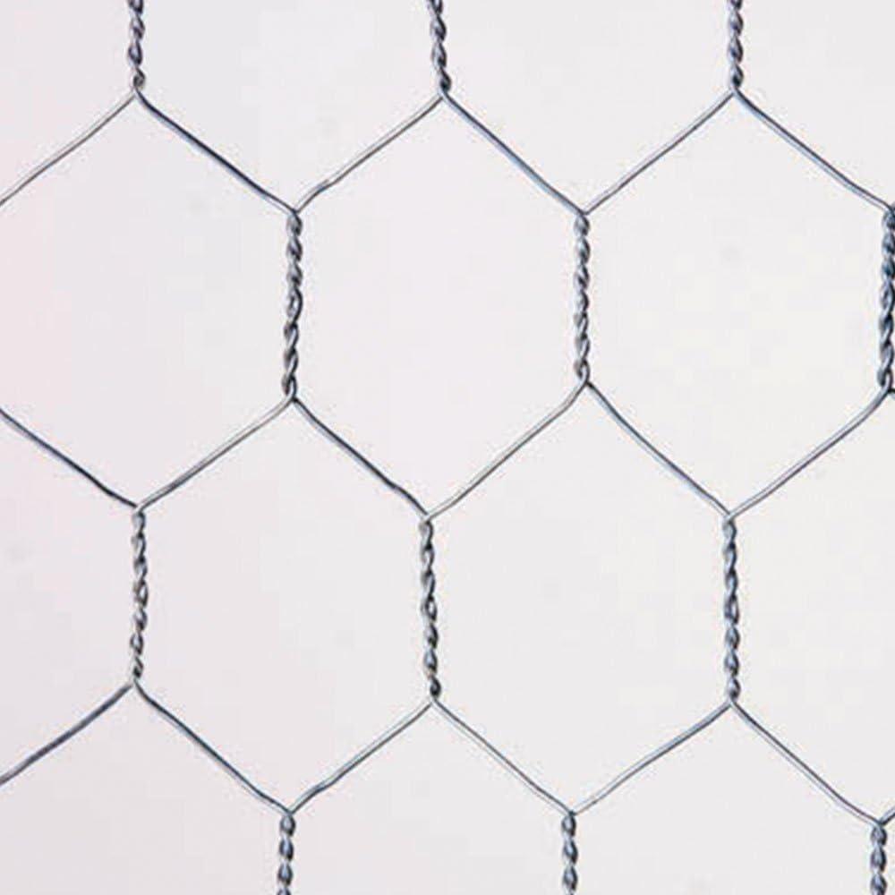 Catral 55020018 - Malla Galvanizada Hexagonal, 100x300x4 cm, color plata