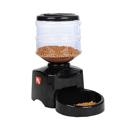 Alimentador de Mascotas automático Inteligente - Un dispensador de Alimentos automático Nunca atascado, Temporizador programable
