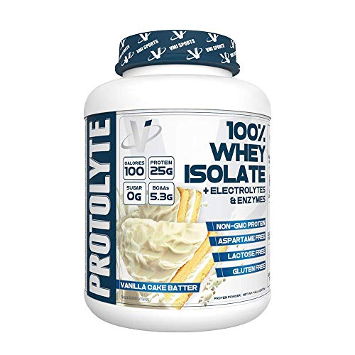 VMI Sports ProtoLyte 100 Whey Isolate 70 Servings, Vanilla Cake Batter, 4.6lb