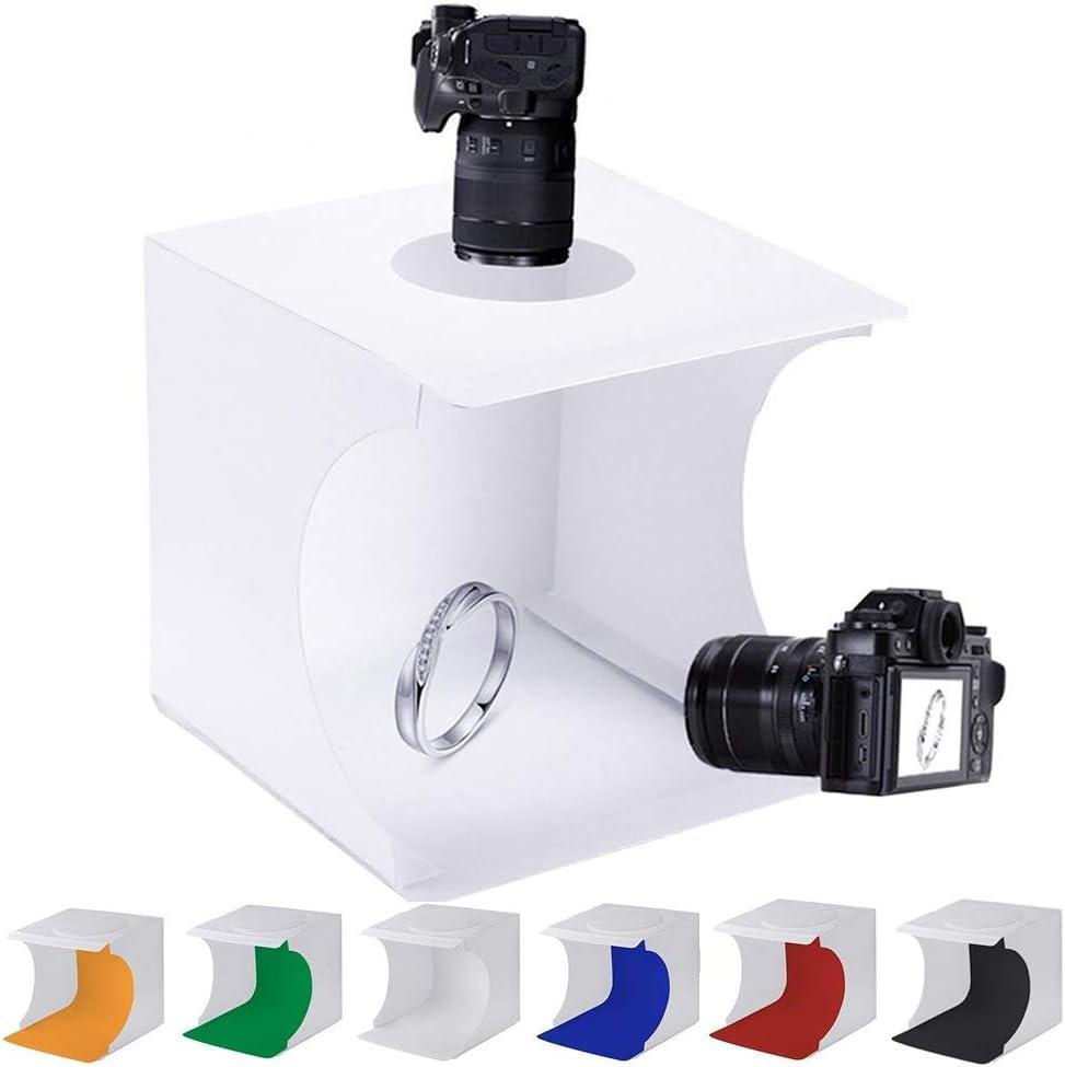 Food HWENJ Mini Portable Photography Studio Light Tent Shoes Photography etc for Jewellery Photography Studio Light Box Shooting Tent Kit , with LED Light