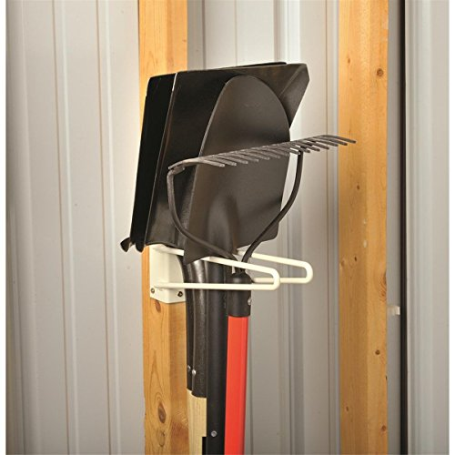 12''L Wire Rod Tool Storage Rack for Unfinished Shed Garage & Shop Walls - Securely Hang and Store Long Handled Shovels Garden Rakes + Hose Pipes Brooms Spades Coils & General Work Tools by GEMPLER'S (Image #1)