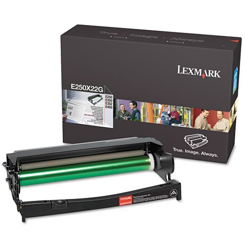 E250X22G Genuine Lexmark Photoconductor Kit, 30000 Page-Yield, Black
