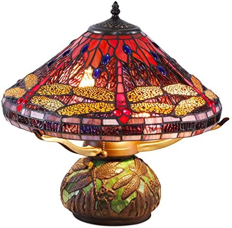 Tiffany-Style Dragonfly Mosaic Table Lamp