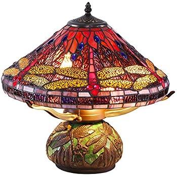 Wonderful Tiffany Style Dragonfly Mosaic Table Lamp