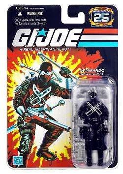 G.I. Joe 25th Anniversary: Snake Eyes v.4 (Commando) 3-3/4 Inch Action Figure ()