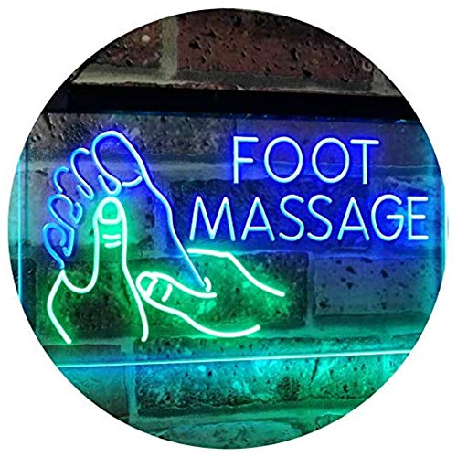 MOCHEN Foot Massage Walk-in-Welcome Open Dual Color LED Neon Sign 16